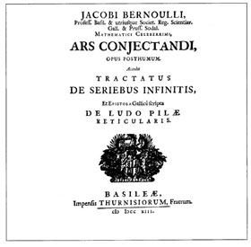 Figure 4 : couverture de l'Ars Conjectandi (1713).