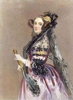 Figure 9 : Ada Lovelace (1815-1852), ca 1840 (tableau d'Alfred Edward Chalon, 250 mm x 183 mm, Science & Society Picture Library, Science Museum, London)